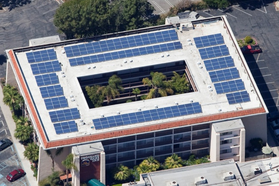 Rooftop solar panels for Best Western Thousand Oaks