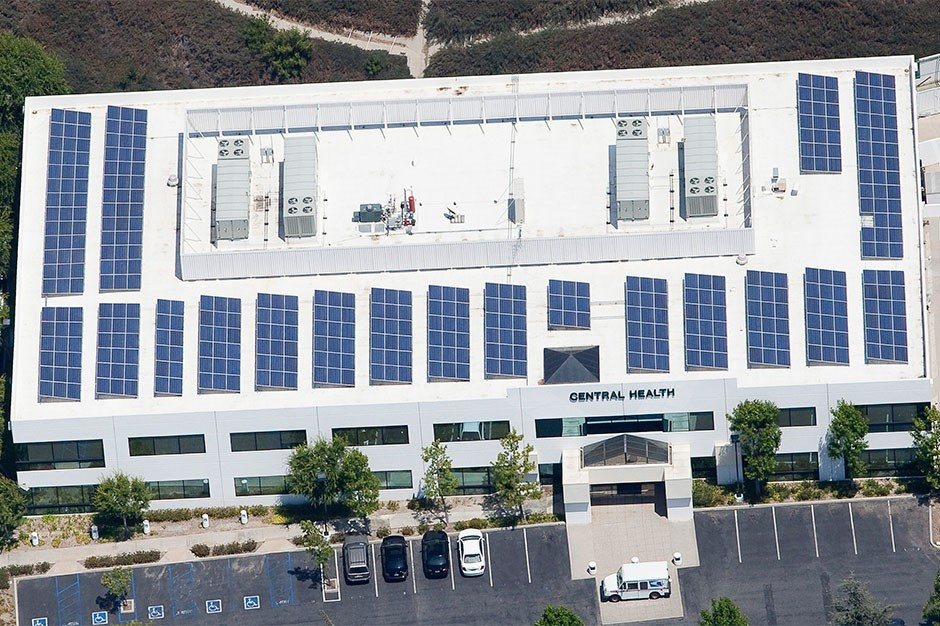 Rooftop solar panels for Central Health Medical Plan HMO